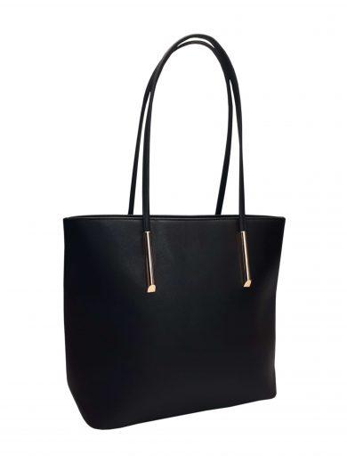 Elegantní kabelka s odolným povrchem Tapple H17429 černá přední strana