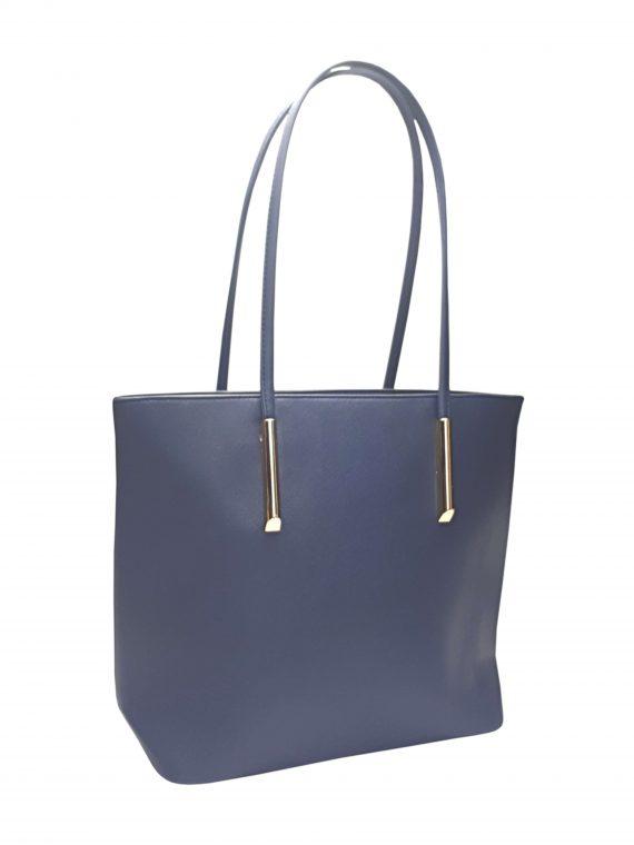 Elegantní kabelka s odolným povrchem Tapple H17429 tmavě modrá přední strana