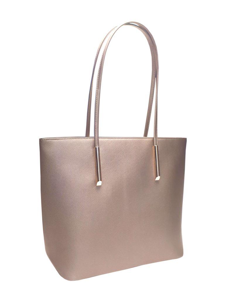 Elegantní kabelka s odolným povrchem Tapple H17429 zlatá přední strana