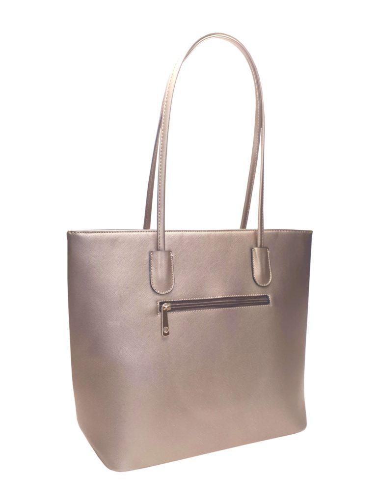 Elegantní kabelka s odolným povrchem Tapple H17429 zlatá zadní strana