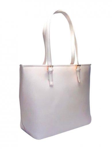 Moderní kabelka s odolným povrchem Tapple H17383-1 bílá přední strana