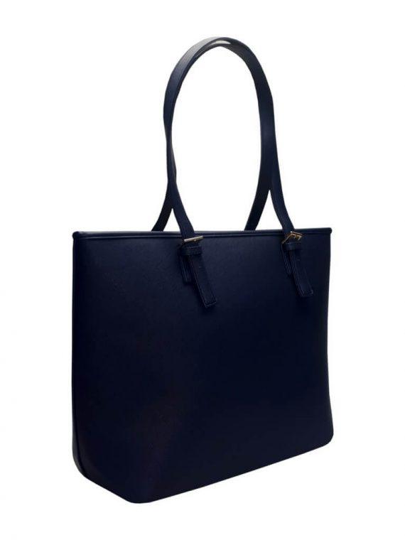 Moderní kabelka s odolným povrchem Tapple H17383-1 tmavě modrá přední strana