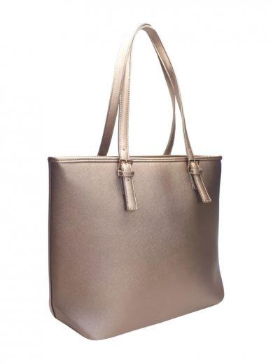 Moderní kabelka s odolným povrchem Tapple H17383-1 zlatá přední strana