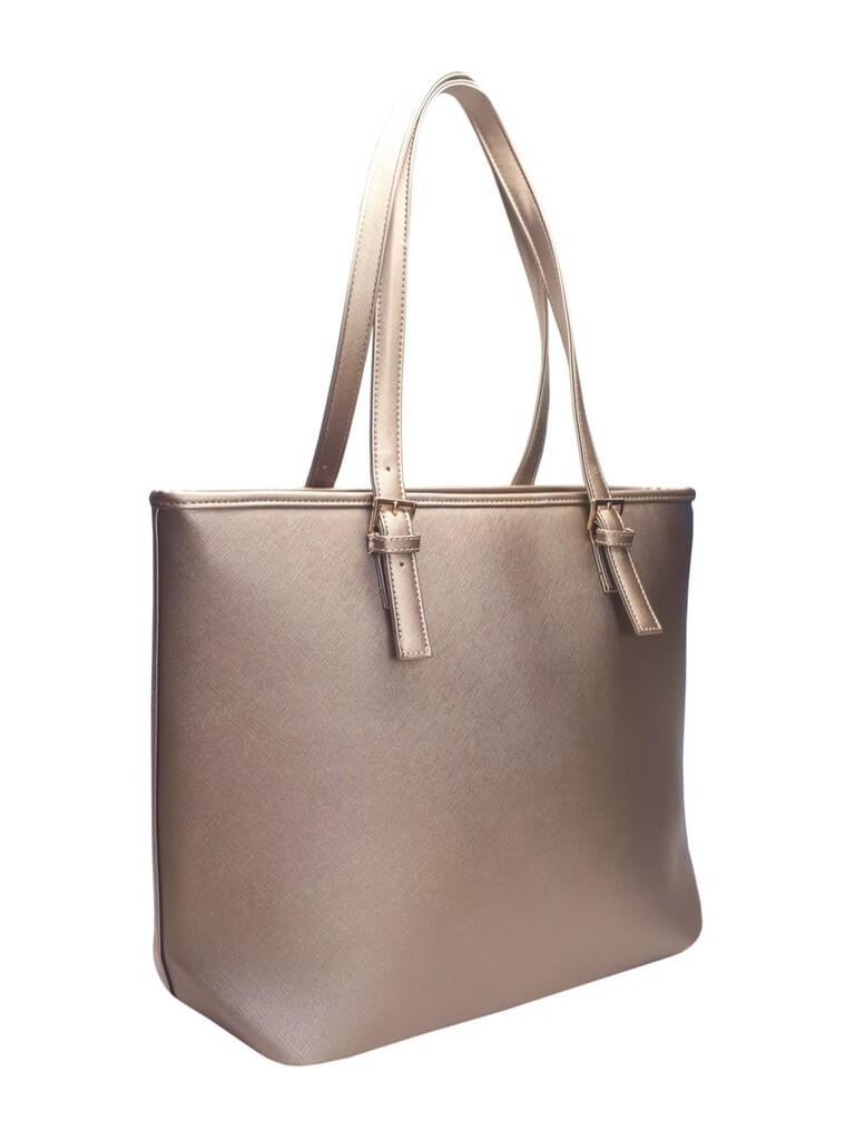 Moderní kabelka s odolným povrchem Tapple H17383-1 zlatá přední strana 417940f330