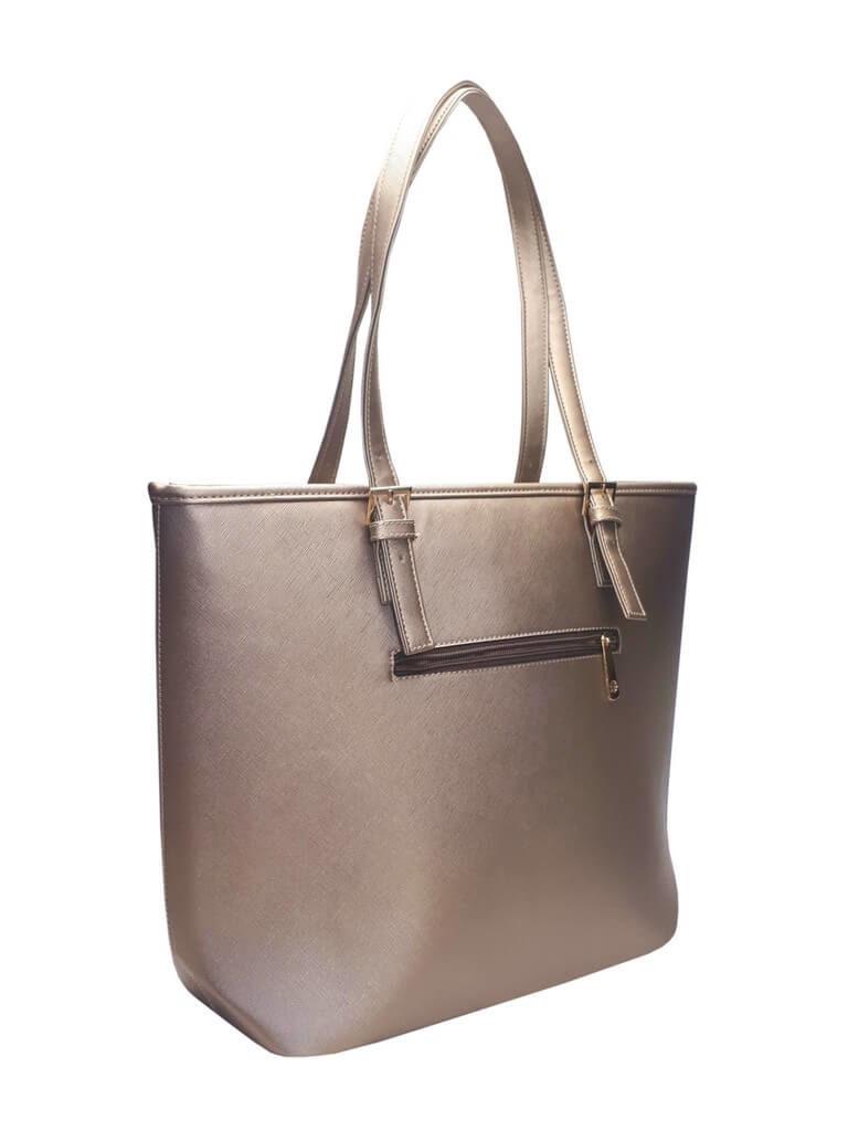 Moderní kabelka s odolným povrchem Tapple H17383-1 zlatá zadní strana