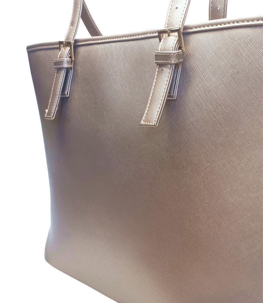 Moderní kabelka s odolným povrchem Tapple H17383-1 zlatá detail vzoru