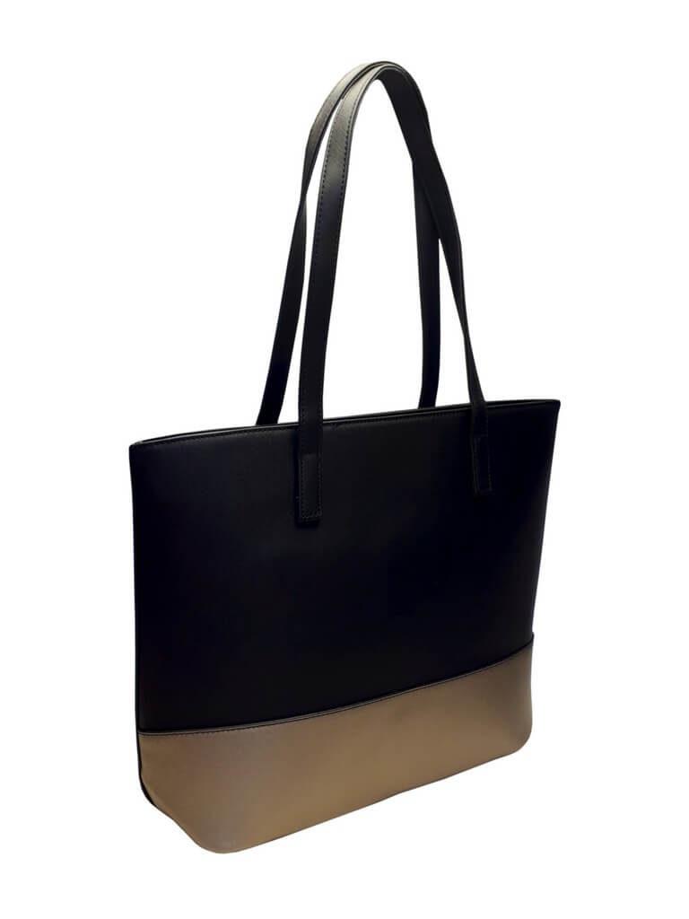 Slušivá dvoubarevná kabelka přes rameno Tapple H17419 černá přední strana