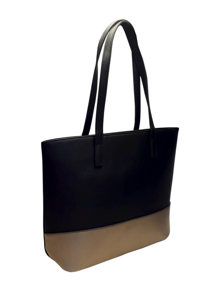 Slušivá dvoubarevná kabelka přes rameno Tapple H17419 černá přední strana bb522ea28c