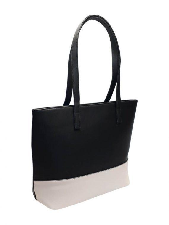 Slušivá dvoubarevná kabelka přes rameno Tapple H17419 černobílá přední strana