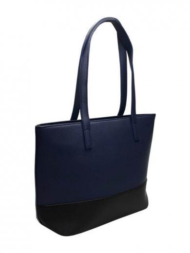 Slušivá dvoubarevná kabelka přes rameno Tapple H17419 tmavě modrá přední strana