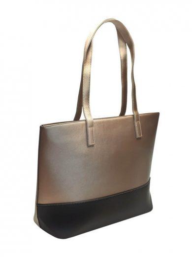 Slušivá dvoubarevná kabelka přes rameno Tapple H17419 zlatá přední strana