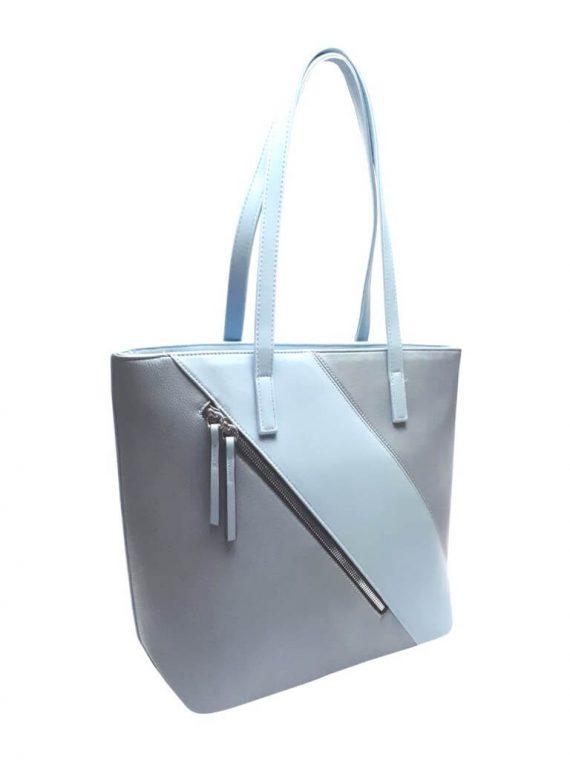 Stylová kabelka přes rameno s šikmým zipem Tapple H17411 světle modrá přední strana