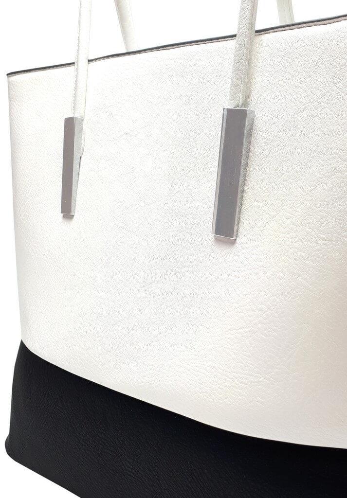 Stylová kabelka přes rameno Tapple B17002 bílá detail kabelky