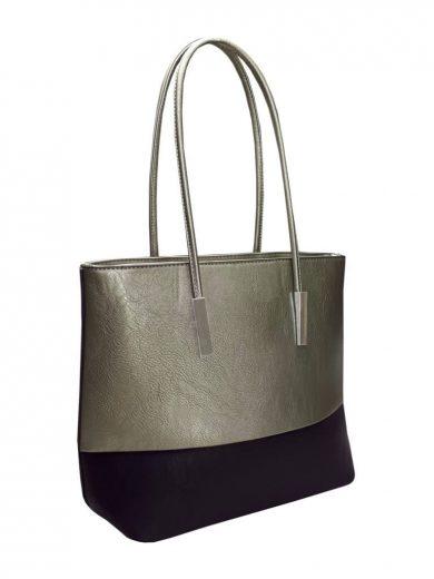 Stylová kabelka přes rameno Tapple B17002 stříbrná přední strana