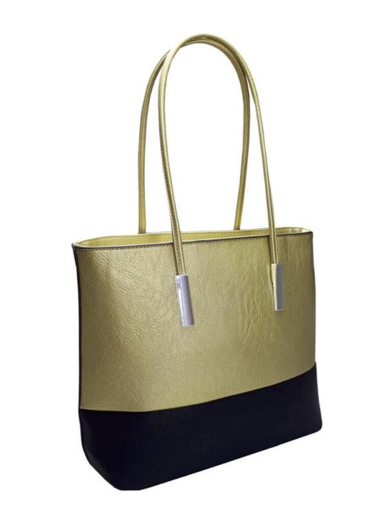Stylová kabelka přes rameno Tapple B17002 zlatá přední strana