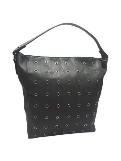 Broušená kabelka na rameno Tapple M9001 černá přední strana