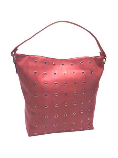 Broušená kabelka na rameno Tapple M9001 červená přední strana