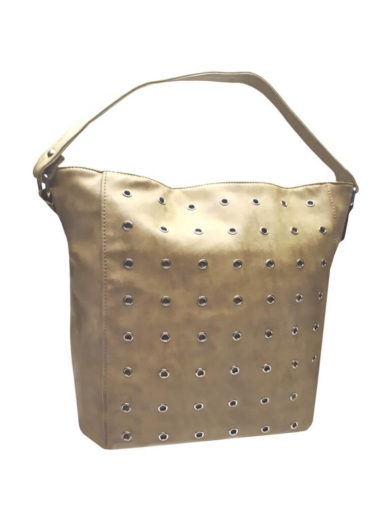 Broušená kabelka na rameno Tapple M9001 světle hnědá přední strana
