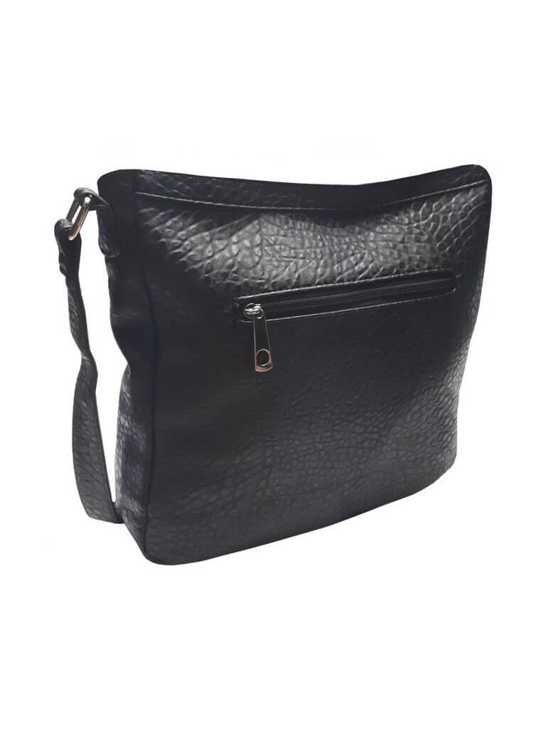 Crossbody kabelka s krokodýlím vzorem Tapple C014-2 černá zadní strana