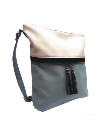 Crossbody kabelka s třásněmi Tapple H16141 světle modrá přední strana