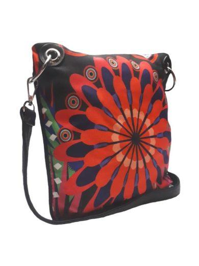 Crossbody kabelka s veselým motivem Tapple 2010 černá zadní strana