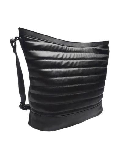 Crossbody kabelka se třpytkami Tapple H16127-1 černá přední strana