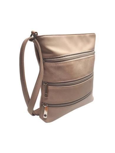 Crossbody kabelka z jemné eko kůže Tapple H17286 krémová přední strana
