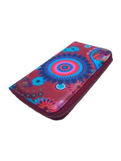 Dámská peněženka s barevným vzorem Tapple 8011S bordó přední strana