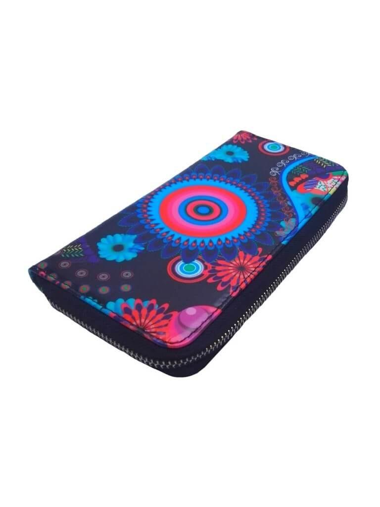 Dámská peněženka s barevným vzorem Tapple 8011S černá přední strana