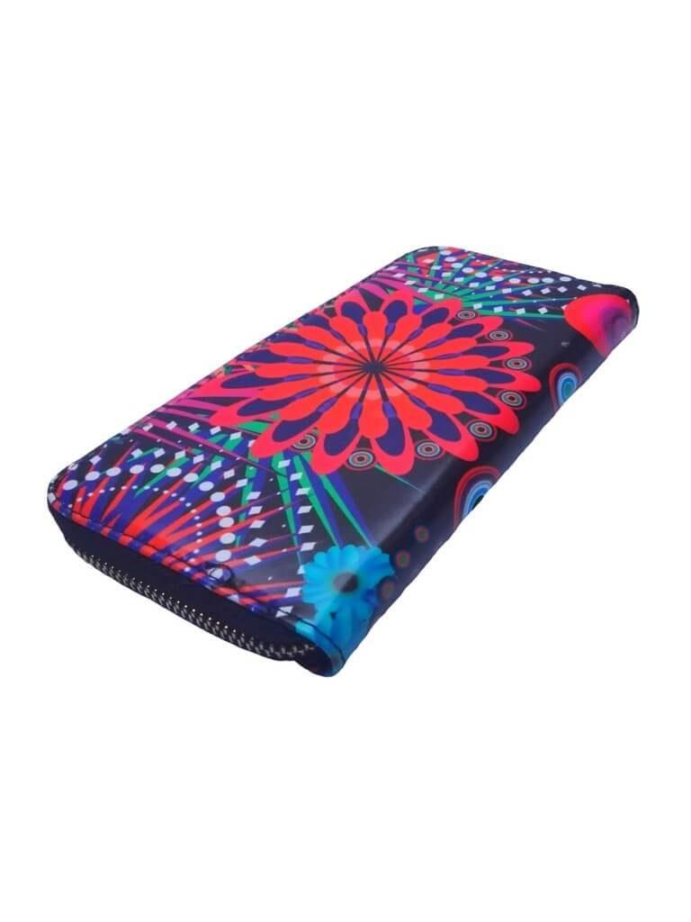 Dámská peněženka s barevným vzorem Tapple 8011S černá zadní strana