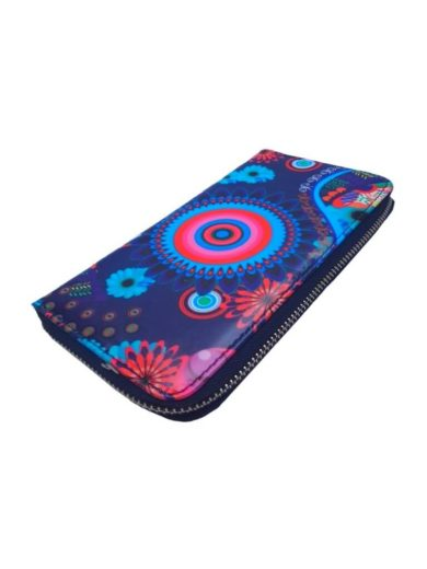 Dámská peněženka s barevným vzorem Tapple 8011S tmavě modrá přední strana
