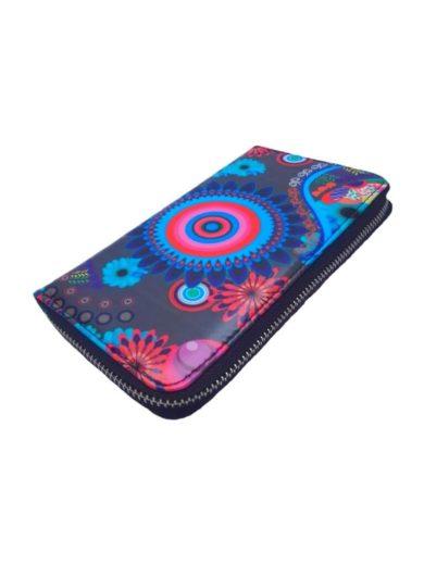 Dámská peněženka s barevným vzorem Tapple 8011S tmavě šedá přední strana