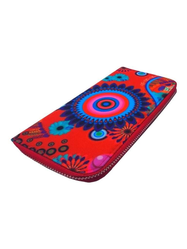 Dámská peněženka s moderním vzorem Tapple 8011 červená přední strana