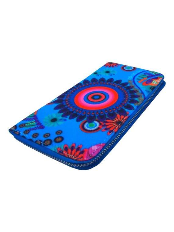 Dámská peněženka s moderním vzorem Tapple 8011 světle modrá přední strana