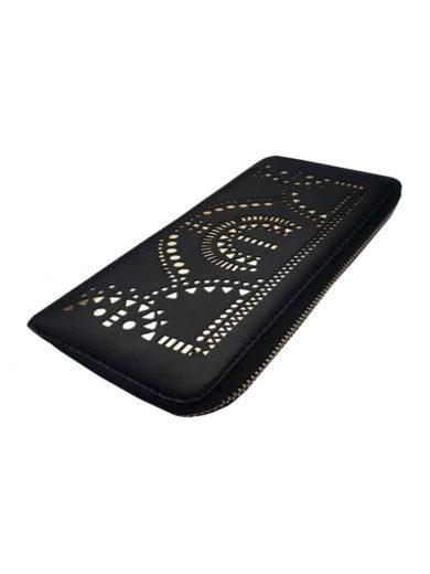 Dámská peněženka se zlatým vzorem Tapple 1060-19 černá přední strana