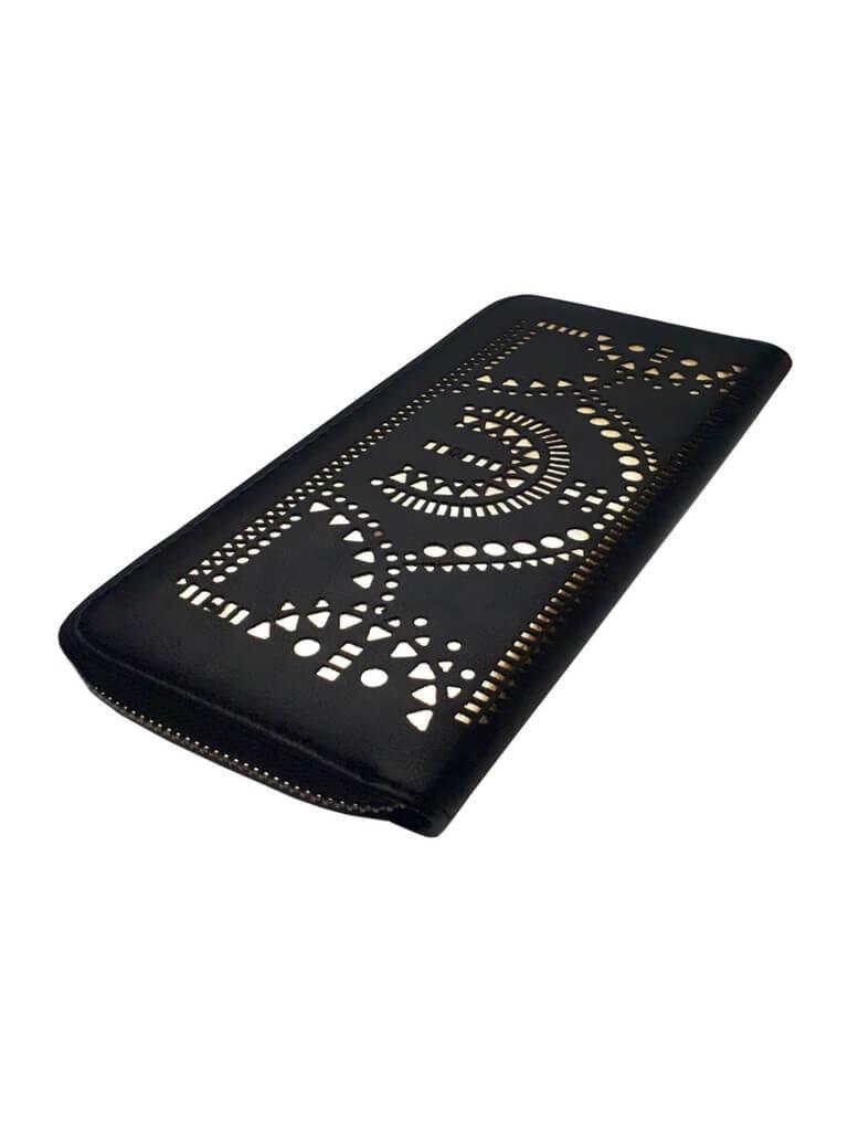 Dámská peněženka se zlatým vzorem Tapple 1060-19 černá zadní strana