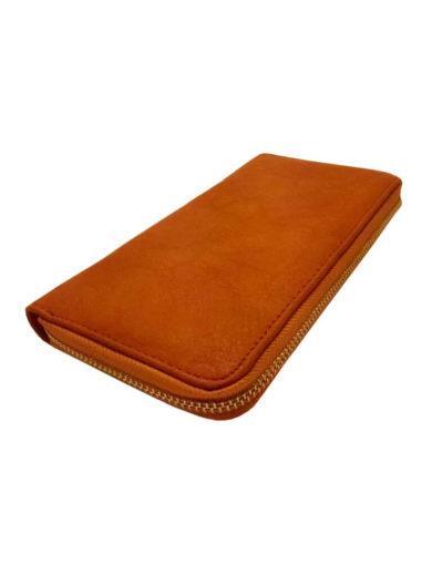 Dámská peněženka z jemné eko kůže Tapple 1060-3 středně hnědá přední strana