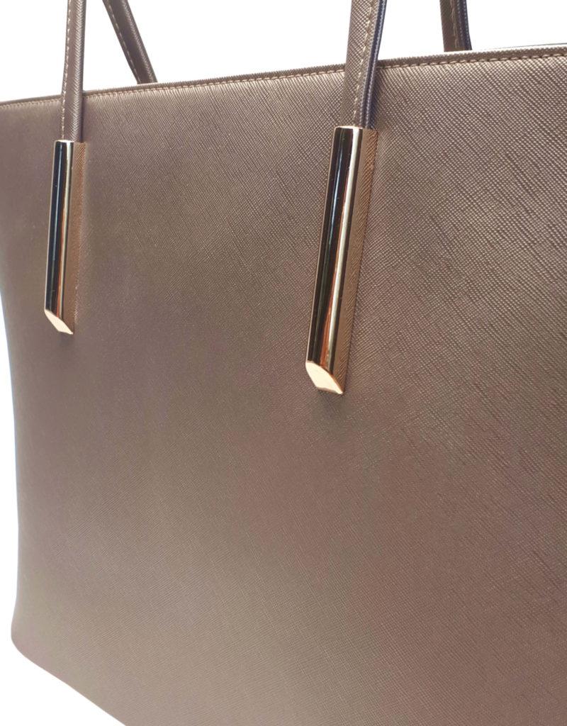 Elegantní kabelka s odolným povrchem Tapple H17429 zlatá detail vzoru