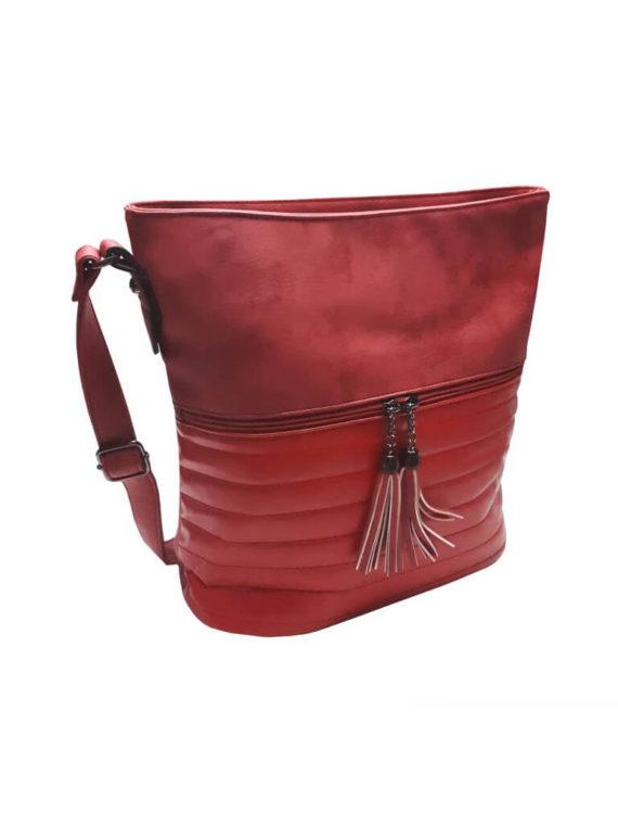 Elegantní třpytivá kabelka Tapple H16179 bordó přední strana