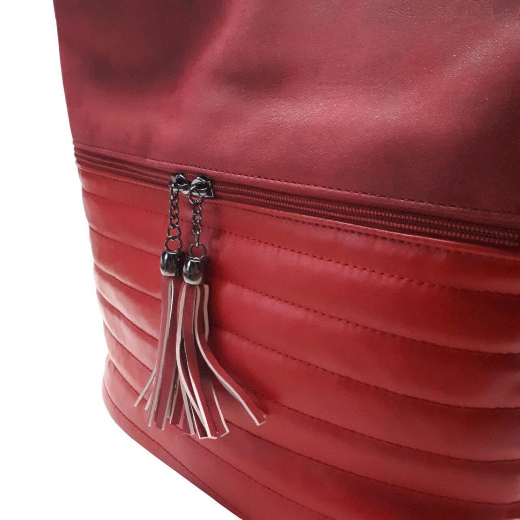 Elegantní třpytivá kabelka Tapple H16179 bordó detail kabelky