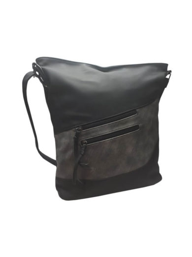 Luxusní velká kabelka z eko kůže Tapple H17104 černá přední strana