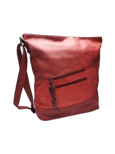 Luxusní velká kabelka z eko kůže Tapple H17104 červená přední strana