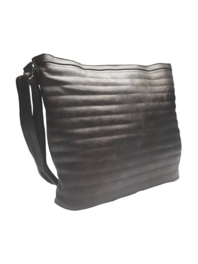 Metalická crossbody kabelka Tapple R651 černá přední strana