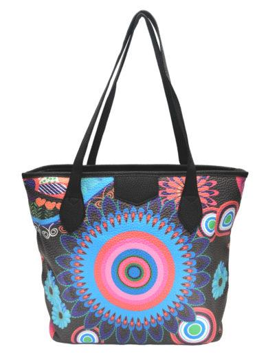 Moderní barevná kabelka přes rameno Tapple 5040 černá přední strana