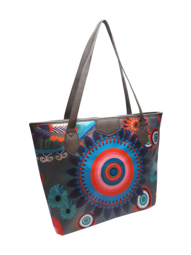 Moderní barevná kabelka přes rameno Tapple 5040 tmavě šedá přední strana