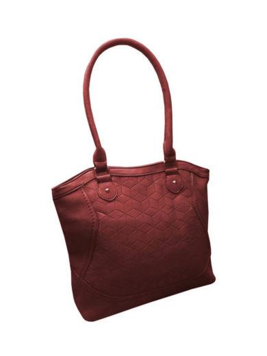 Moderní kabelka z broušené kůže Tapple R643 bordó přední strana