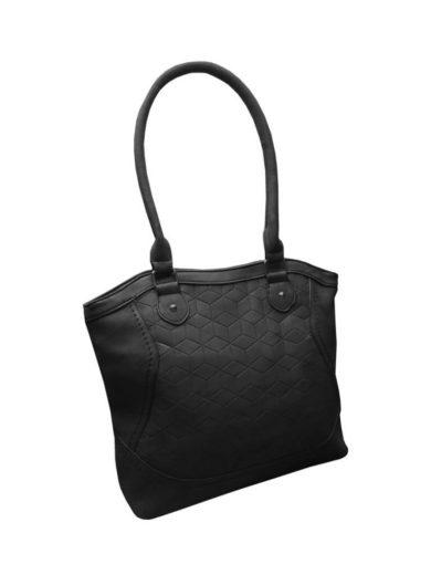 Moderní kabelka z broušené kůže Tapple R643 černá přední strana