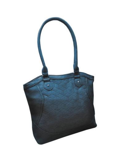 Moderní kabelka z broušené kůže Tapple R643 středně modrá přední strana