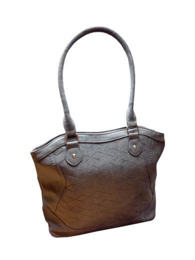 Moderní kabelka z broušené kůže Tapple R643 středně šedá přední strana