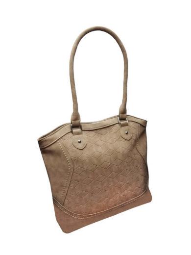 Moderní kabelka z broušené kůže Tapple R643 světle hnědá přední strana